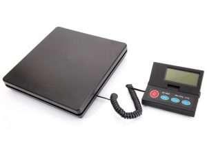 Pesa, Balanza Digital 50KG/2G con pantalla LCD portátil escala electrónica de plástico negro