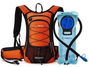 Mochila de hidratación Miracol con 2 litros de vejiga de agua para esquiar, correr, caminar, andar en bicicleta