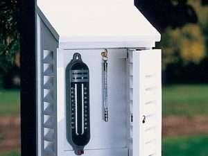 Caja protectora de termómetro