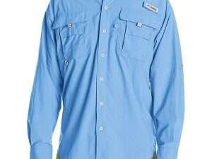 Camisa Manga Larga Talla S mall Color Azul Vívido