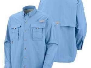 Camisa De Hombre Azul Claro Columbia Camping Supervivencia