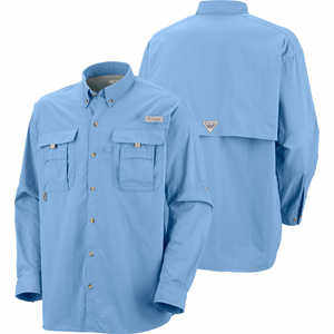 Camisa De Hombre Azul Claro Columbia Camping Supervivencia ... 3faac581869