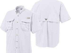 Camisa Columbia Hombre Blanca Camping Supervivencia