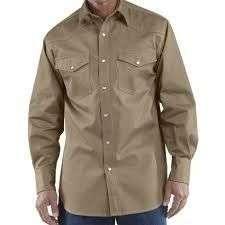 Camisa para dotación manga larga de drill