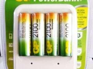 cargador Gp para baterías   4 pilas Gp aa 2100mh