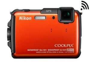 Cámara marca Nikon-Coolpix con GPS incorporado