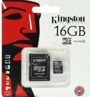 Memoria Micro Sd De 16 Gb Con Adaptador