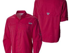 Camisa Hombre Roja Columbia Camping Supervivencia