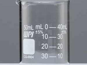Vaso graduado de vidrio griffin 50 ml