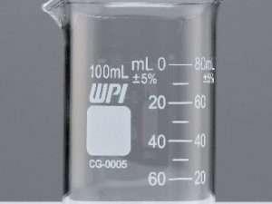 Vaso graduado de vidrio griffin 100 ml