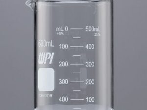 Vaso graduado de vidrio griffin 600 ml
