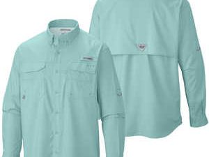 Camisa Columbia Bahama Iii Manga Larga, Color Gulf Stream,