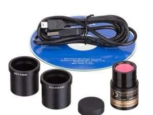 Microscópio Compuesto Binocular Amscope / 40X-2500X – Cámara 1.3MP