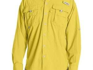 Camisa Columbia Hombre Bahama Ii Amarillo Mineral