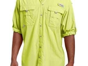 Camisa Columbia Hombre Bahama II verde limón Talla S