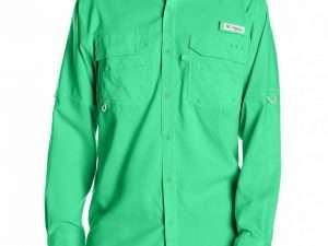 Camisa Columbia Verde Manga Larga Talla S