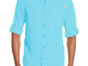 Camisa Columbia Hombre Tamiami II azul talla XXL