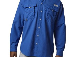 Camisa Columbia de Hombre Bahama II azul rey talla s