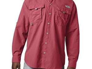 Camisa Columbia Hombre Bahama Ii Roja Talla M
