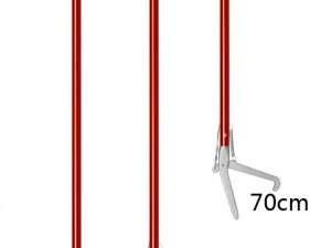 Pinza Serpientes Herpetológica Roja Acero 100 cm