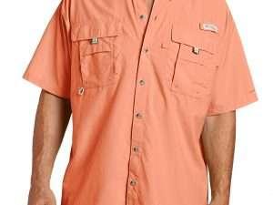 Camisa Columbia Hombre Bahama Ii Naranja