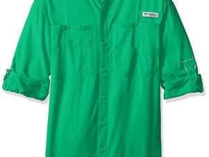 Camisa Columbia Tamiami Ii Pfg Manga Larga.verde