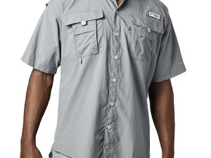 Camisa Columbia Hombre Bahama Ii Gris