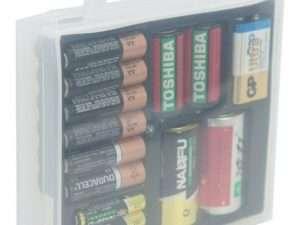 Caja Organizadora Para Baterias pilas AA, AAA, C, D y cuadrada 9V