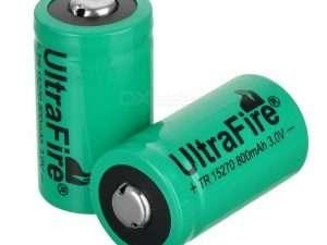 Batería Recargable De Li-ion 2 Ultrafire 3.0v X 2 Unidades