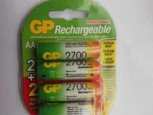 Batería recargable GP 2700 mAh