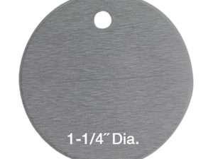 100 Láminas Aluminio Para Marcaje De Árboles 3 cm