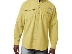 Camisa Columbia Hombre Manga Larga Talla S Color Amarillo