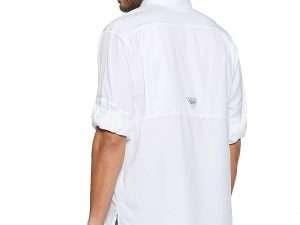 Camisa Columbia Blanca Manga Larga Talla M