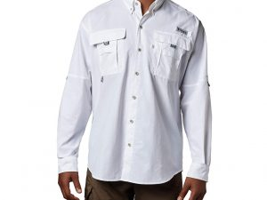 Camisa Columbia Hombre Blanca Manga Larga Talla M