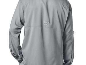 Camisa Columbia Gris Manga Larga Talla M