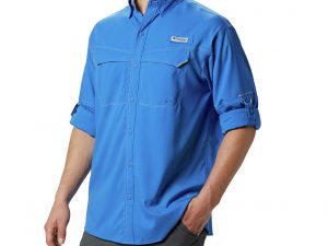 Camisa Columbia Manga Larga Azul Rey Talla M