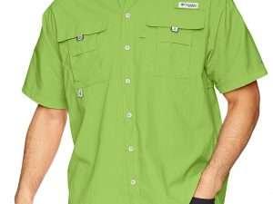 Camisa Columbia verde limon hombre talla M