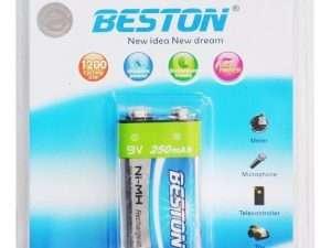 Batería Recargable Cuadrada Beston Ni-mh 9v 250 Mah
