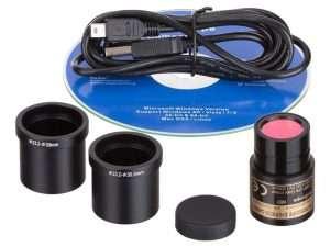 Cámara Para Microscopio Amscope Md130 Usb De 1.3 Mp Incluye