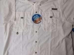 Camisa Columbia Bahama Ii Blanca Manga Corta