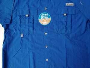 Camisa Columbia Bahama Ii Manga Corta Azul