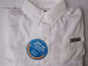 Camisa Columbia Blanca manga larga talla S