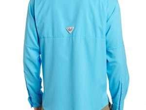 Camisa Columbia Hombre Azul Manga Larga Talla M