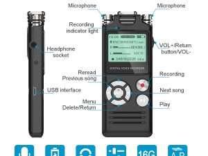 Grabadora De Voz Digital 16 Gb