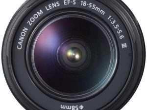 Lente de cámara Canon