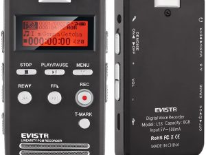 Grabadora de voz EVISTR Pro 1536KPBS PCM