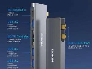 Adaptador USB C para MacBook Pro Air 6 en 1