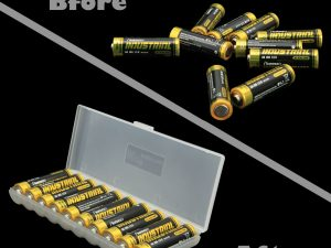 Estuche Caja Organizadora De Baterias Aa Para 10 Pilas