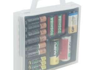 Estuche Caja Organizadora De Baterías Para Aa Aaa Cd 9v